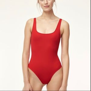 Babaton Perez bodysuit sz large red never worn